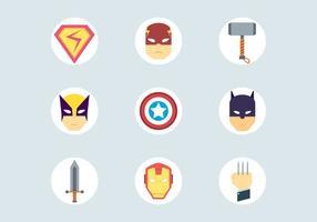 Ícones do super-herói