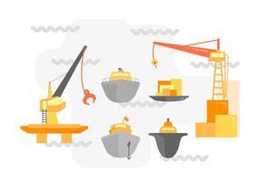 Vetores de shipyard únicos gratuitos