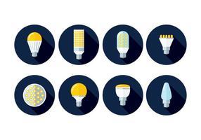 Ícones de luzes LED vetor