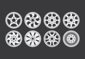 Ícones de roda de liga vetor