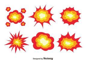 Vector de coleção de explosão de demolição