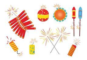 Vetores de Crackers de Diwali Fire