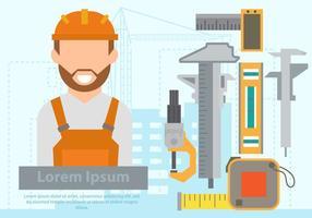 Engenheiro de construção com o equipamento vetor