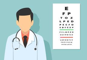 Teste de olho alfabeto vetor livre
