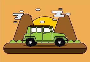 Jeep offroad da aventura vetor