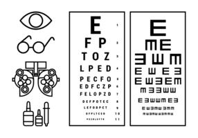 Vector de Teste de Olho