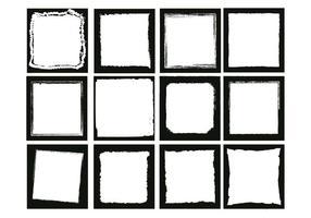 Conjunto de vetores quadrados das bordas da foto