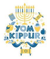 padrão sem emenda de yom kippur vetor