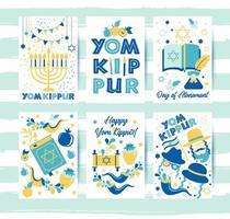 cartões comemorativos do yom kippur vetor