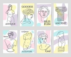 Grécia e Roma antigas conjunto de 8 cartas