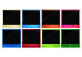 Vetores brilhantes de bordas de fotos de néon