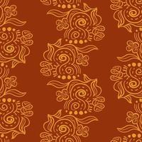 padrão sem emenda de ornamentos de batik.