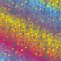fundo de triângulos abstratos coloridos