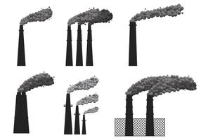 Vetor de pilha de fumaça