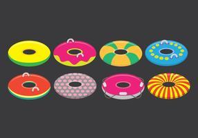 Conjunto de ícones do Innertube vetor