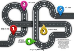 Mapa rodoviário do vetor