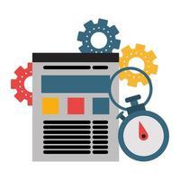 suporte técnico e ícone de tecnologia vetor