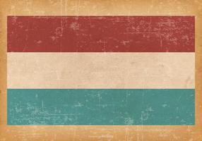 Bandeira do grunge do Luxemburgo vetor