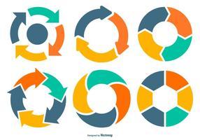 Coleção do diagrama de vetor do ciclo de vida
