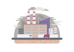 Ilustração da fábrica industrial vetor