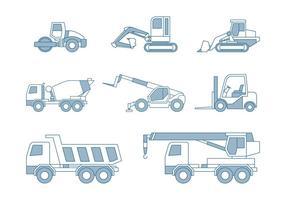 Carros de construção vetor