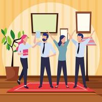 empresários e conceito de co-working