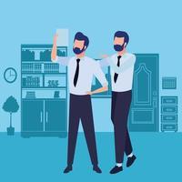 parceiros de negócios com documentos