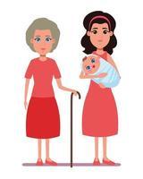 personagens de desenhos animados da família