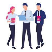 empresários e conceito de co-working vetor