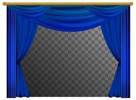 cortinas azuis com fundo transparente vetor