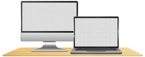conjunto de fundo em branco do computador vetor