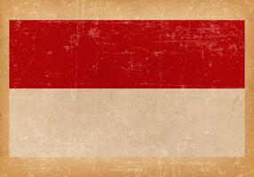 Bandeira grunge de monaco vetor