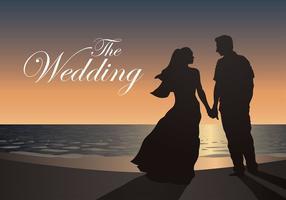 Casamento de praia Vector grátis