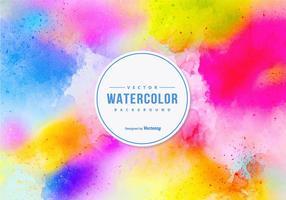 Fundo colorido do vetor da aguarela