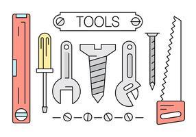 Coleção de ferramentas lineares gratuitas vetor
