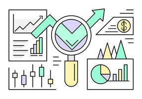 Estatísticas da Web Lineares Gratuitas vetor