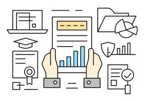 Elementos de vetor de estatísticas de negócios gratuitos