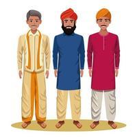 personagens de desenhos animados de homens indianos