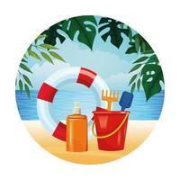 composição de verão, praia e férias