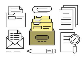 Documentos e documentos gratuitos do Office Linear vetor