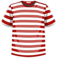 T-shirt com listras vermelhas e brancas