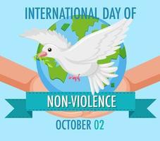 pôster do dia internacional da não violência