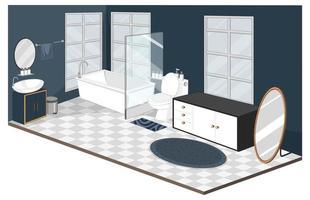 interior do banheiro com móveis de estilo moderno vetor