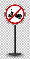 sinal vermelho de proibição de bicicletas vetor