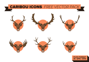 Caribou ícones Free Vector Pack