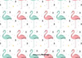 Fundo desenhado mão do vetor do flamingo