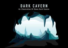 Ilustração da Caverna escura vetor