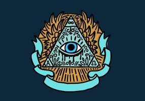 Pirâmide dos olhos Illuminati vetor