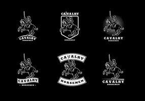 Vector do logotipo da cavalaria
