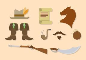 Vetores militares da arma antiga plana